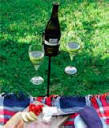 Outdoor wine glass holder gift.